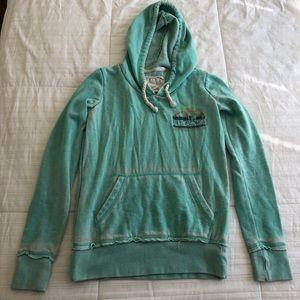 Billabong light sea green hoodie sweatshirt